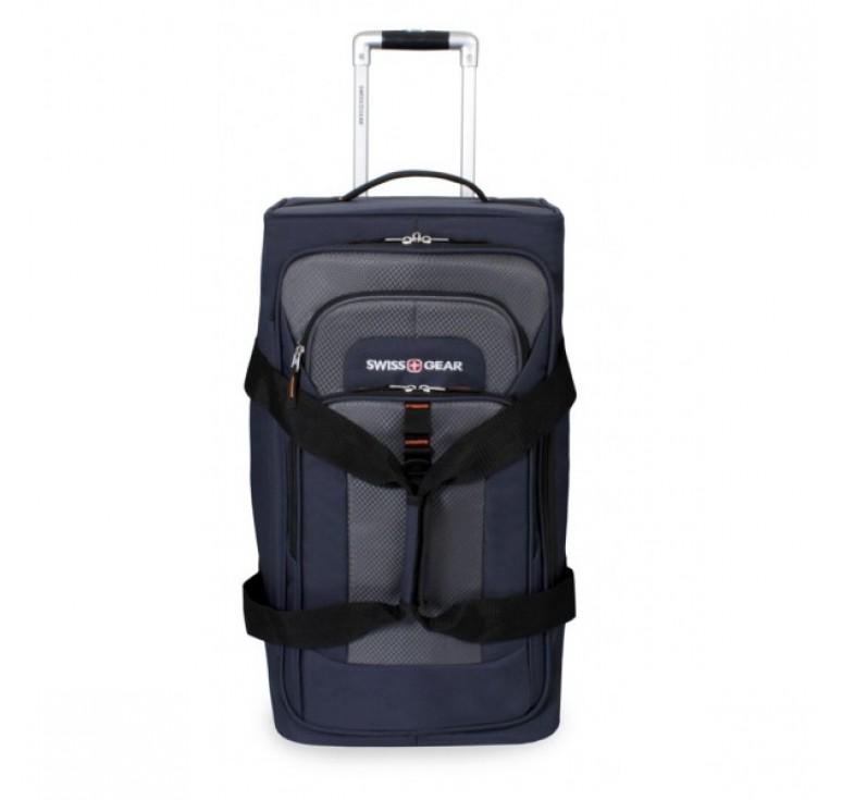 Сумка на колесах SWISSGEAR Sport Line, синий/серый, полиэстер 600Dx600D/рипстоп 420X250D, 36x30x61см