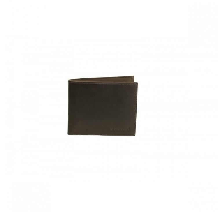Портмоне WENGER Cloudy, коричневый, воловья кожа, 12х2х9,5 см