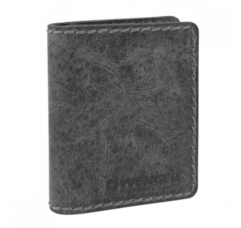 Визитница WENGER Arizona, черный, воловья кожа, 8×1,5×10 см