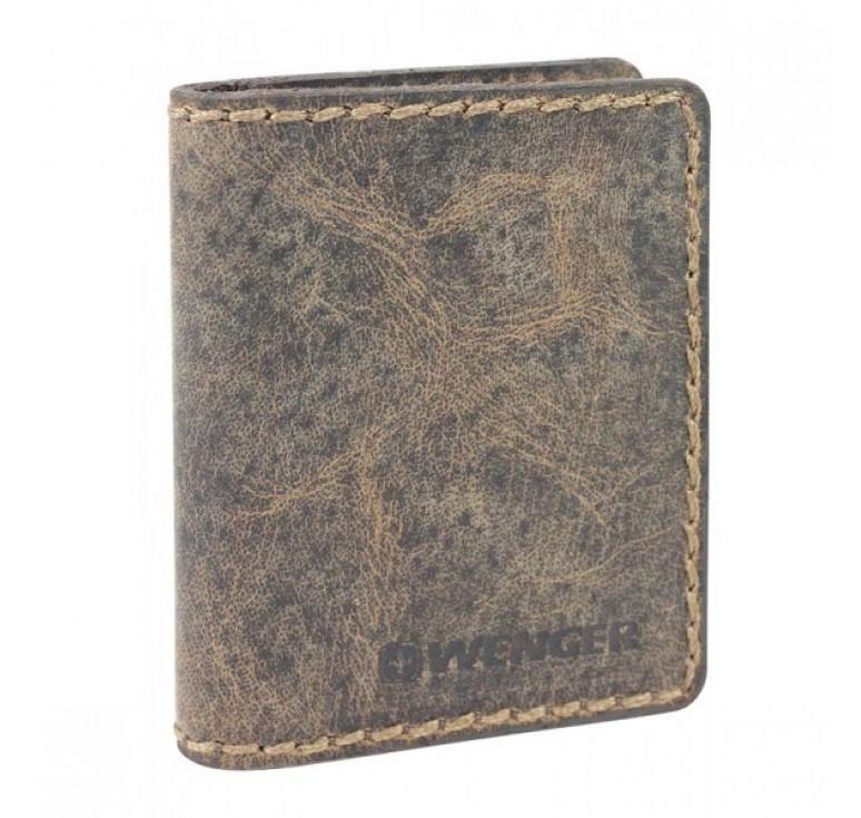 Визитница WENGER Arizona, коричневый, воловья кожа, 8×1,5×10 см