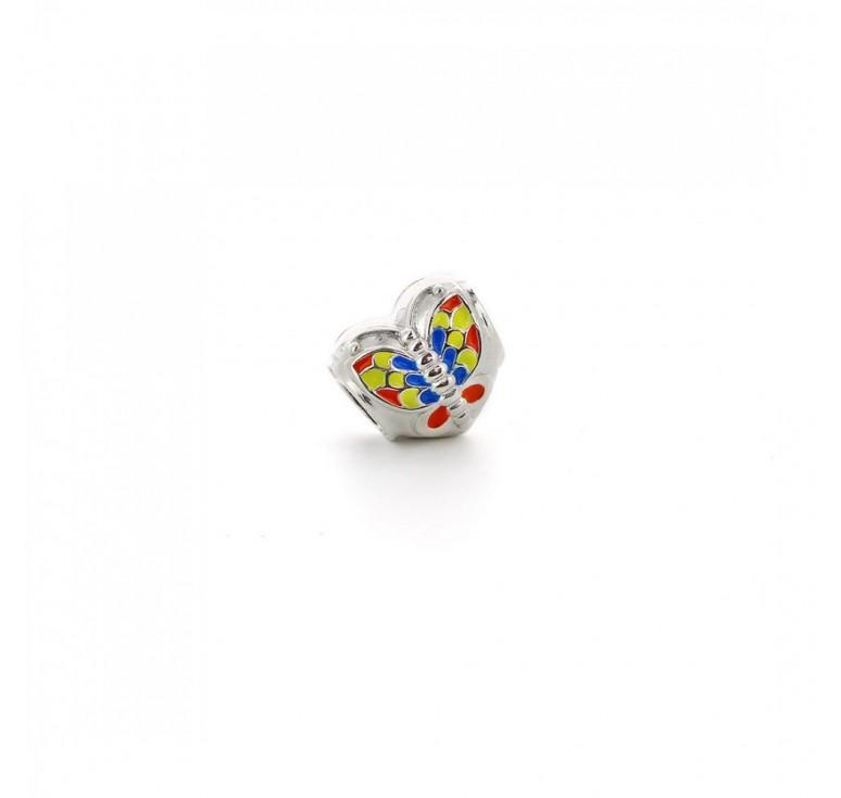 Подвеска-перлина «Разноцветная бабочка»