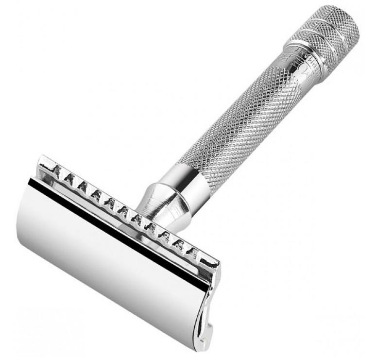 Станок Т- образный для бритья MERKUR хромированный, лезвие в комплекте (1 шт)