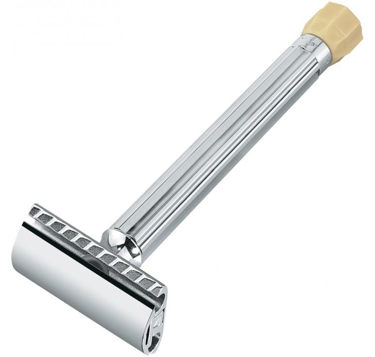 Станок Т- образный для бритья MERKUR хромированный, с удлиненной ручкой и регулировкой угла наклона