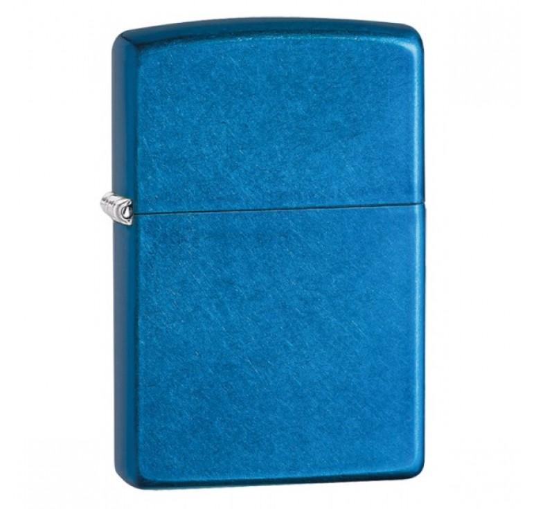 Зажигалка ZIPPO Classic с покрытием Cerulean™, латунь/сталь, синяя, глянцевая, 36x12x56 мм