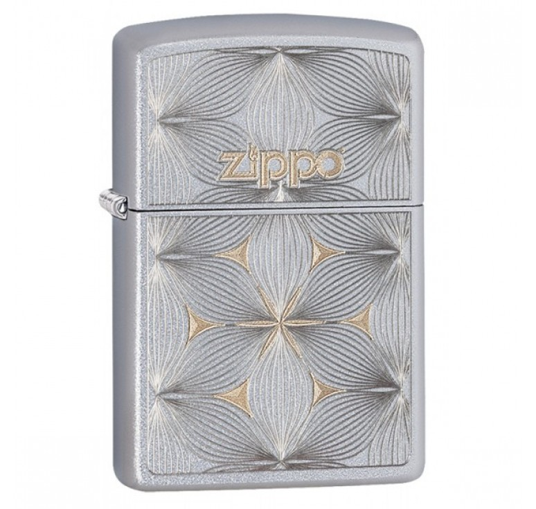 Зажигалка ZIPPO Classic с покрытием Satin Chrome™, латунь/сталь, серебристая, матовая, 36x12x56 мм