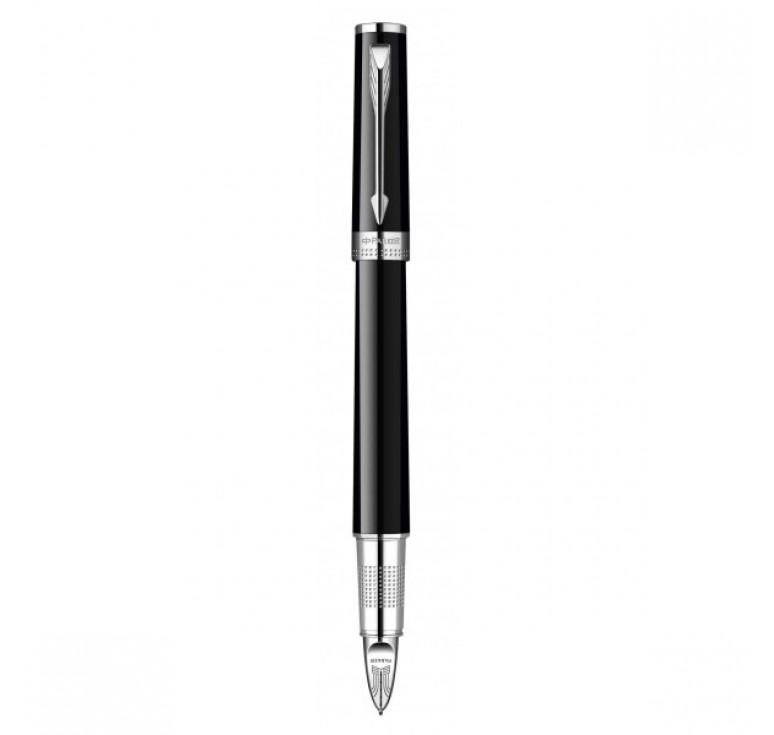 Ручка Пятый пишущий узел Parker INGENUITY, цвет - чёрный\хром, декоративное перо
