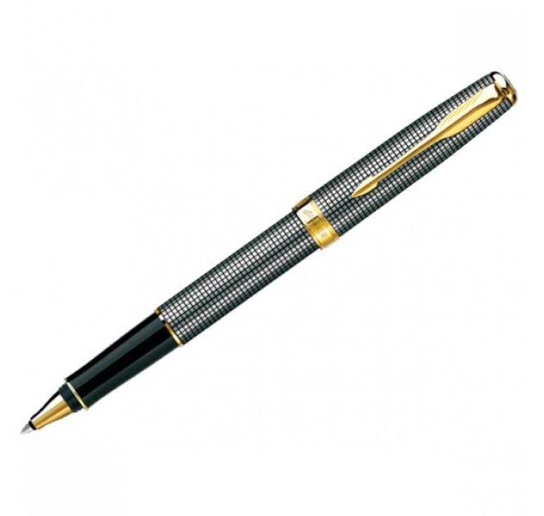 Роллерная ручка Parker Sonnet, цвет - серебристый