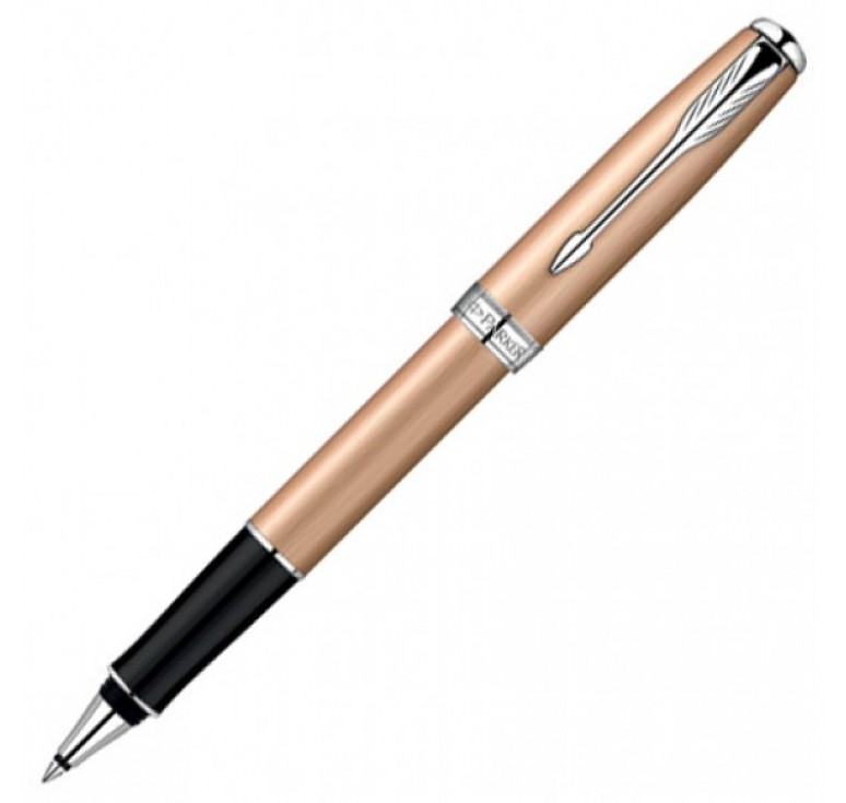 Роллерная ручка Parker Sonnet, цвет - розовое золото