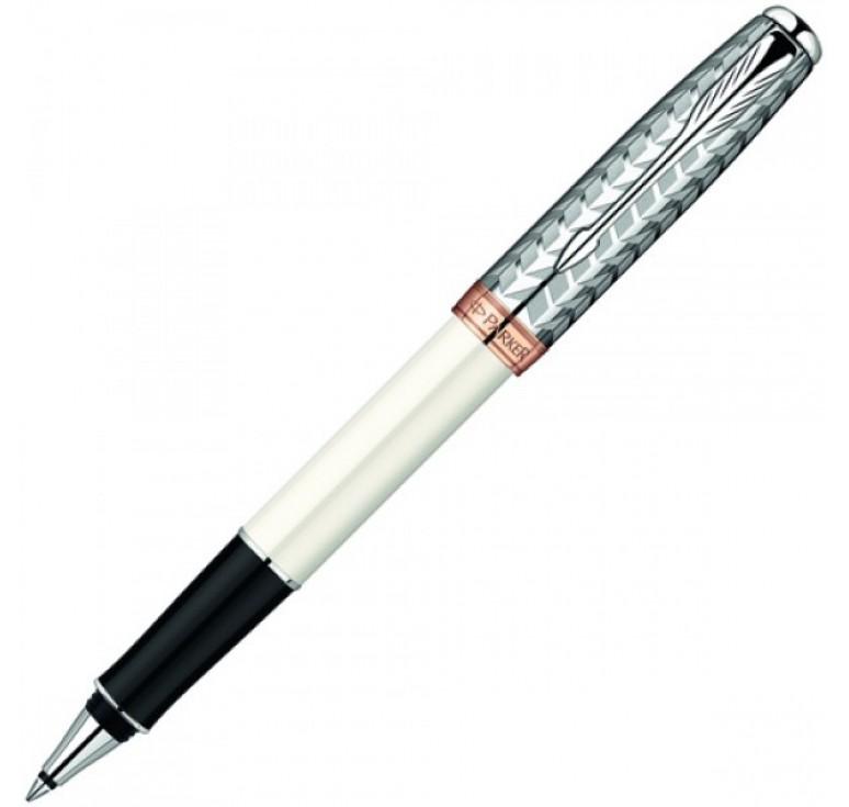 Роллерная ручка Parker Sonnet, цвет - белый/серебро