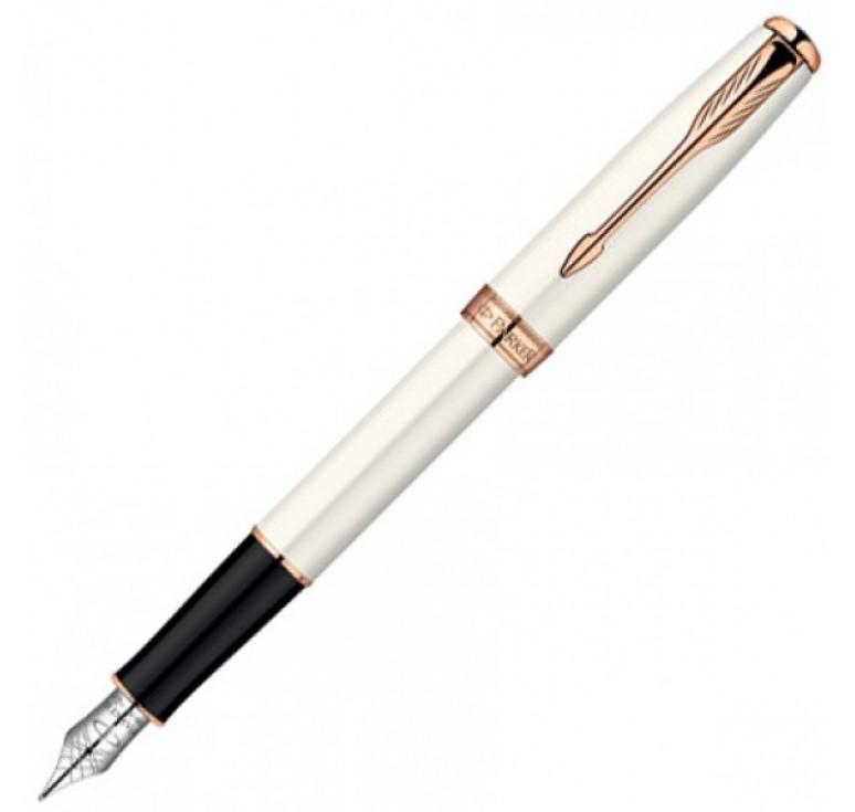 Перьевая ручка Parker Sonnet, цвет - белый, перо - золото 18К