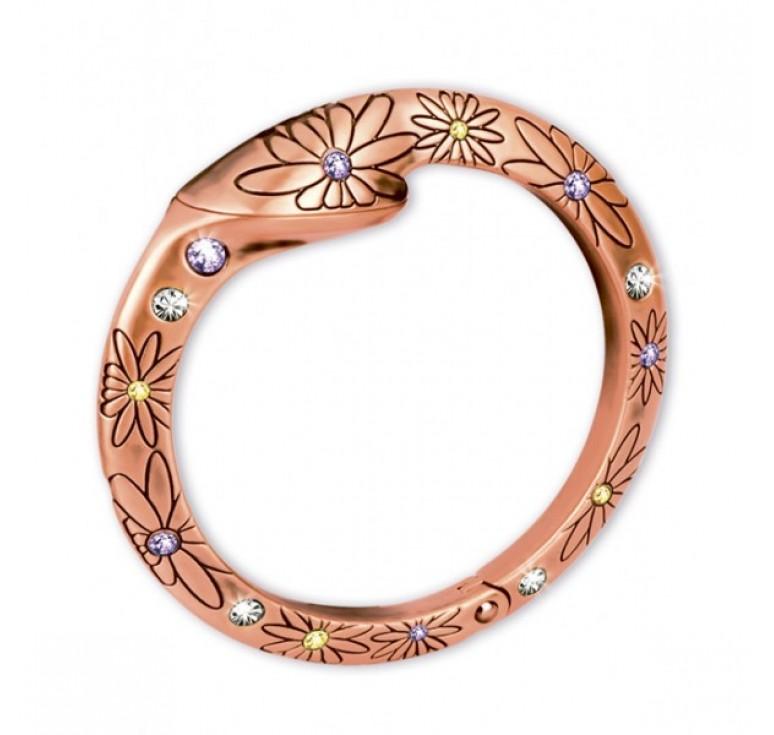 Держатель для сумки Jardin D'Ete со стразами, сталь + стекло, покрытие из розового золота, Ø60 мм