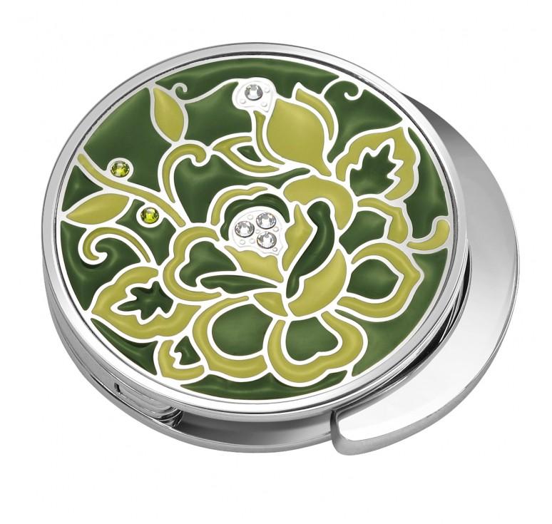 """Держатель для сумки Jardin D'Ete со стразами """"Зелёный луг"""", круглый, сталь + эмаль, Ø43 мм"""