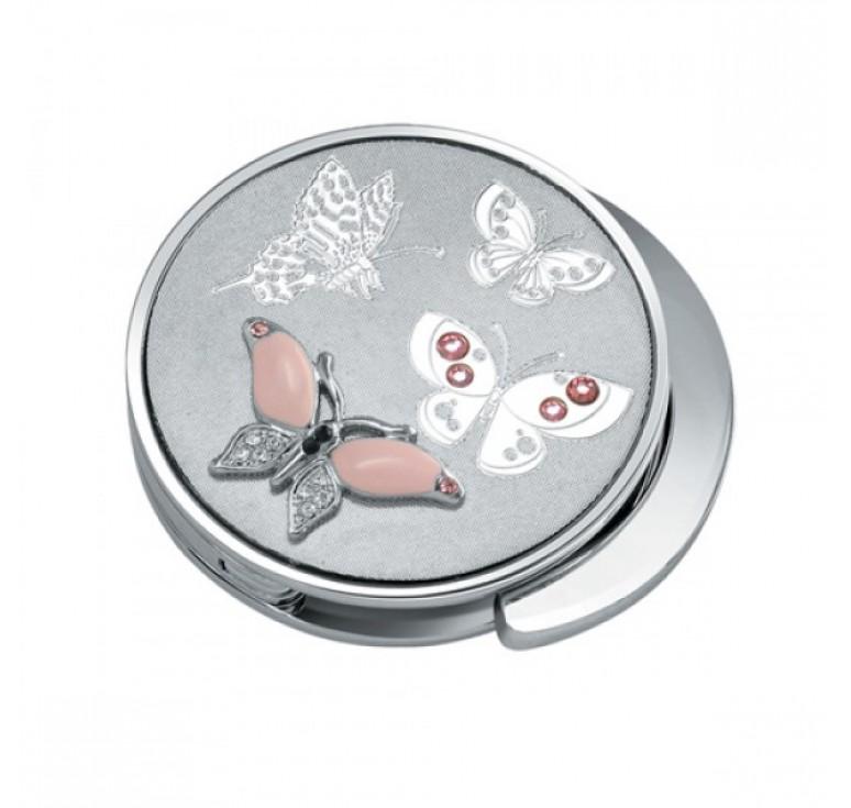 """Держатель для сумки Jardin D'Ete со стразами, """"Розовая бабочка"""", сталь + стекло, Ø43 мм"""