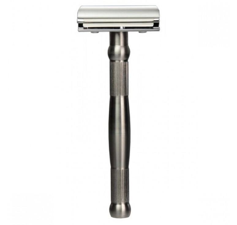Станок для бритья Erbe с двумя лезвиями, ручка- высококачественная нержавеющая сталь, цвет: хром