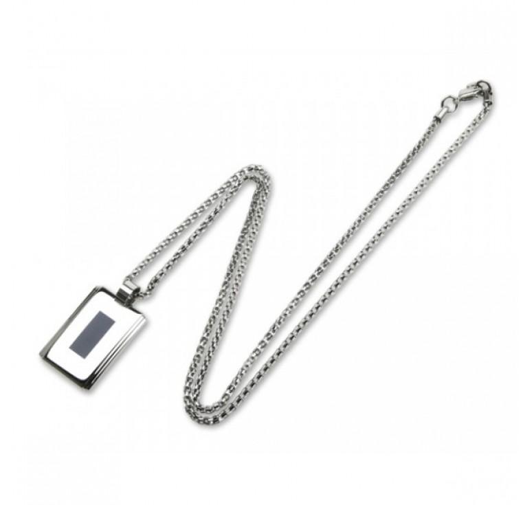 """Кулон """"Caseti"""",  сталь с матовым покрытием + эмаль, 3,6 x 2,1 x 0,4 см"""