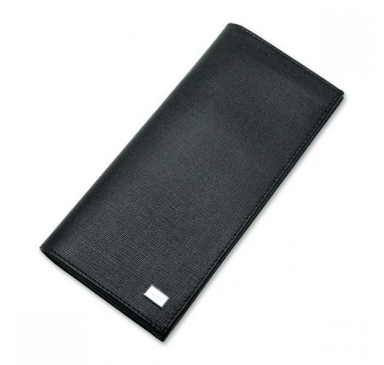 """Визитница """"Caseti"""",кожа тисненая черная, 19,0 х 9,1 см"""