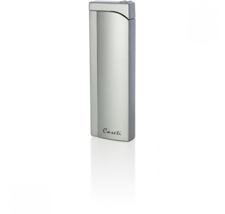 "Зажигалка ""Caseti"" газовая пьезо,  цвет - серебристый, 2,6x1.2x 8.0см"