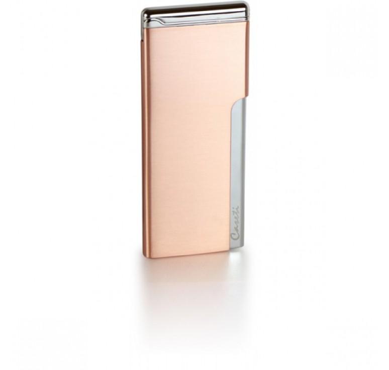 """Зажигалка """"Caseti"""" газовая пьезо, хромированное покрытие + красная медь, 3,3х0,5х8 см"""