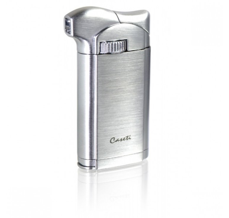 "Зажигалка ""Caseti"" для трубок газовая пьезо, хромированная 3,5х1,4х7,2 см"