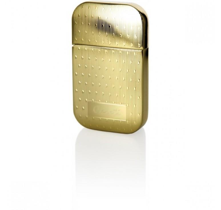 """Зажигалка """"Caseti"""" газовая кремниевая, сплав цинка, золото с насечкой, 3,5х0,8х6 см"""