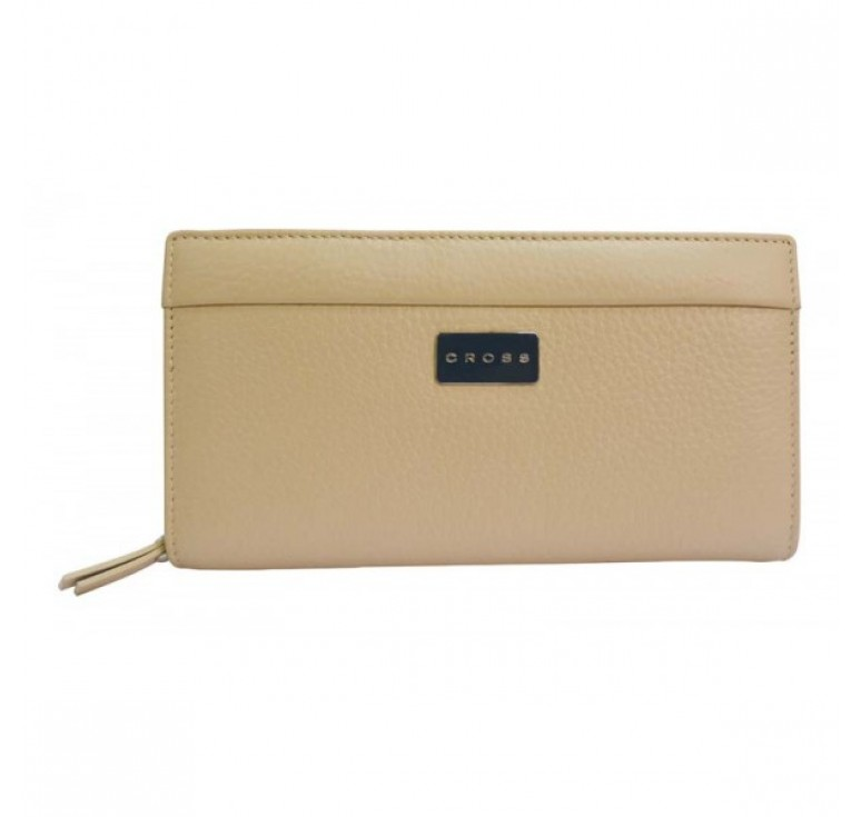 Клатч-кошелёк Cross Melody, кожа наппа тиснёная, цвет бежевый, 18 х 10 х 3 см