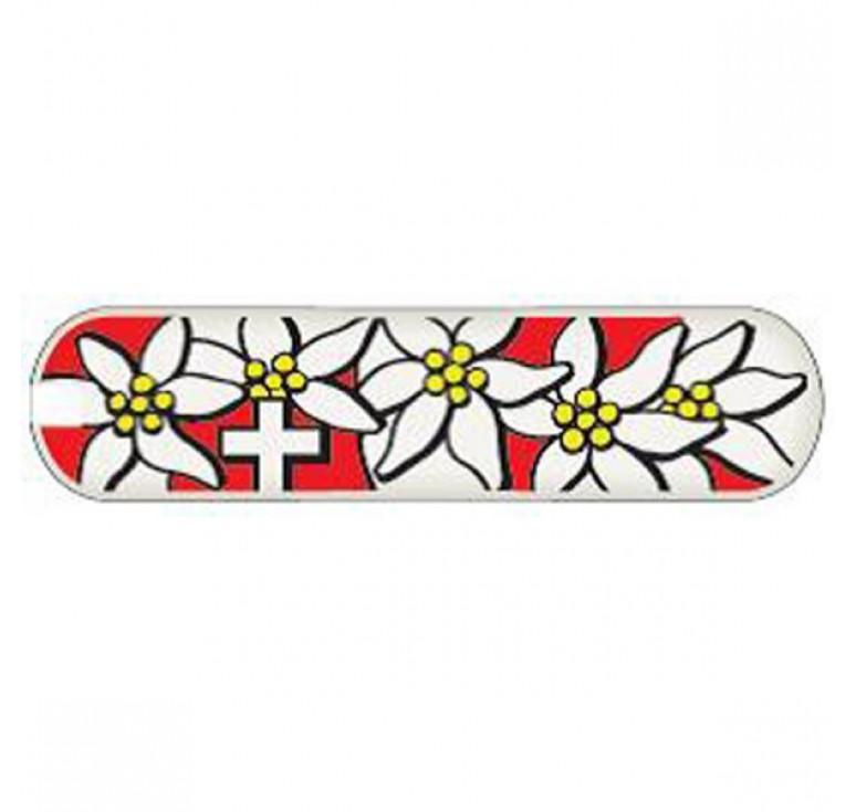 Задняя накладка для ножей VICTORINOX 58 мм, пластиковая, дизайн Edelweiss