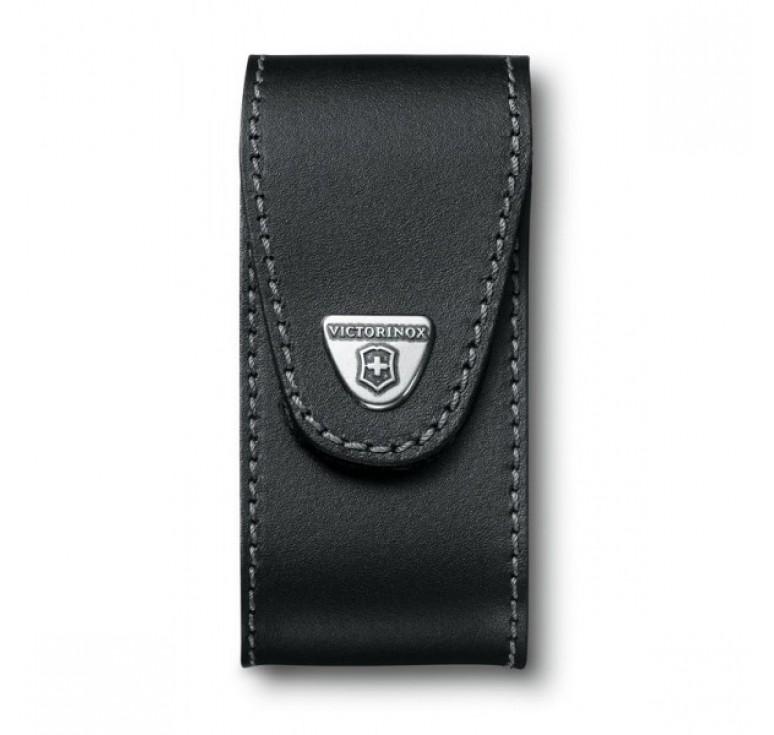 Чехол на ремень VICTORINOX для ножа 111 мм WorkChamp XL (0.9064.XL), кожаный, чёрный