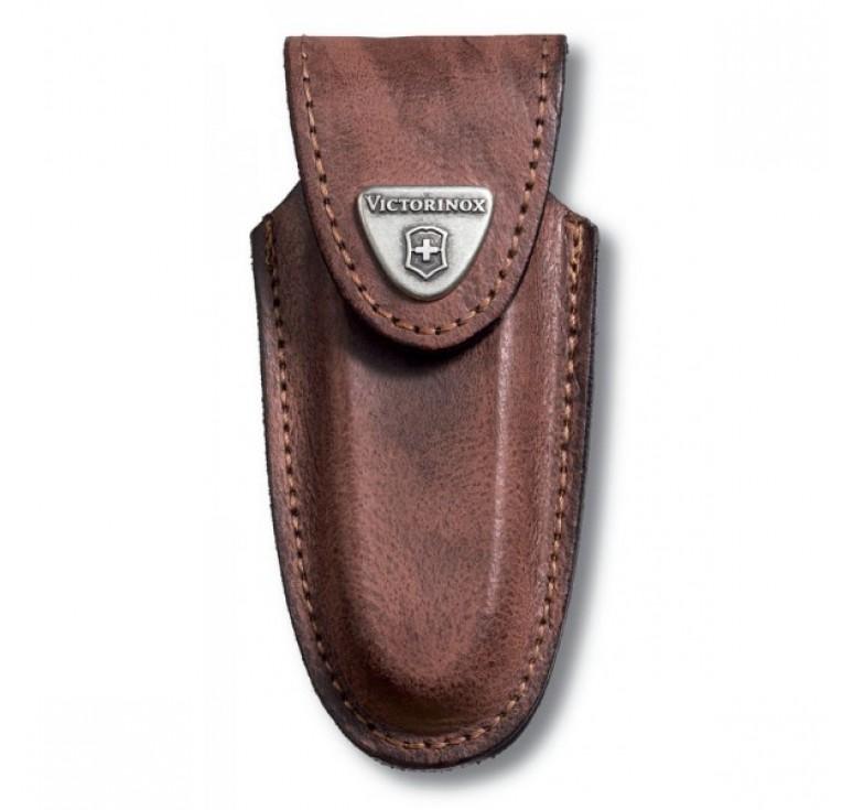 Чехол на ремень VICTORINOX для ножей 91 мм толщиной 2-4 уровня, кожаный, коричневый
