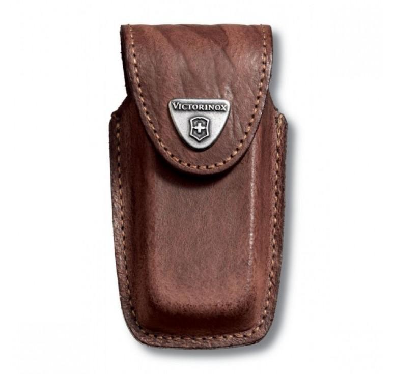 Чехол на ремень VICTORINOX для ножей 91 мм толщиной 5-8 уровней, кожаный, коричневый