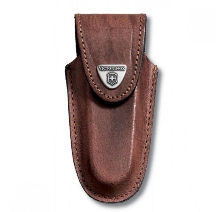 Чехол на ремень VICTORINOX для ножей 111 мм толщиной 2-3 уровня, кожаный, коричневый