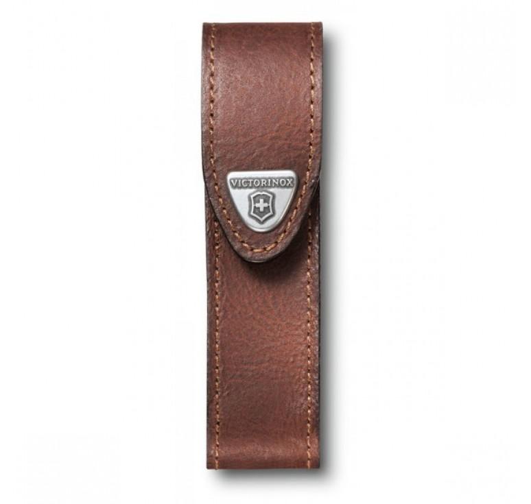 Чехол на ремень VICTORINOX для ножей 111 мм толщиной 2-4 уровня, кожаный, коричневый