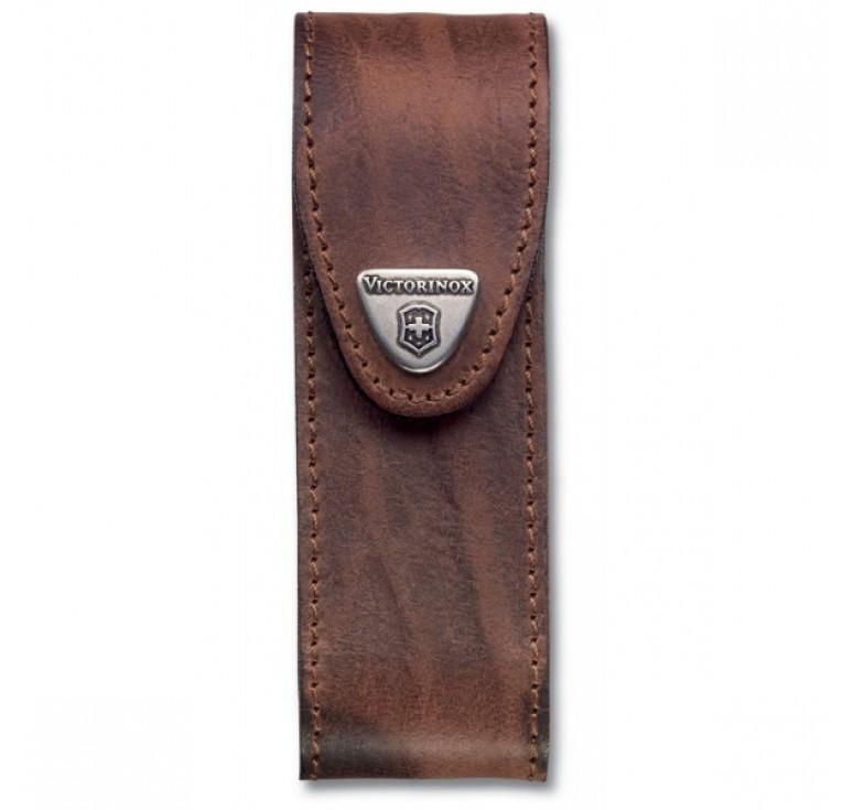 Чехол на ремень VICTORINOX для ножей 111 мм толщиной 4-6 уровней, кожаный, коричневый