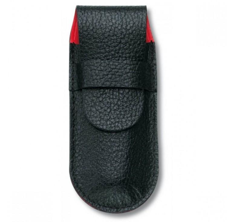 Чехол VICTORINOX для ножей 91 мм толщиной 5-7 уровней, кожаный, чёрный