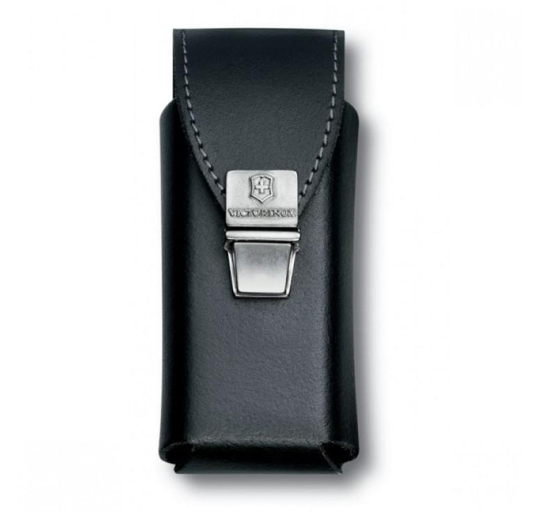 Чехол на ремень VICTORINOX для мультитулов SwissTool Plus, на пружинной защёлке, кожаный, чёрный