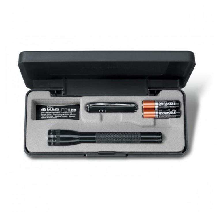Набор VICTORINOX: нож-брелок 0.6223.3 и светодиодный фонарь Mini-Maglite 12,5 см, чёрный