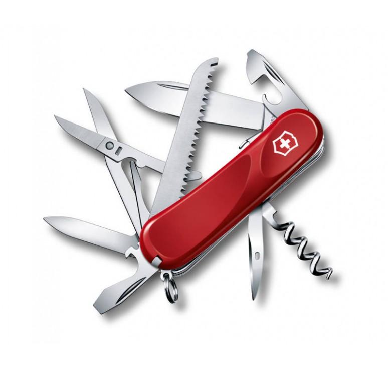 Нож перочинный VICTORINOX Evolution S17, 85 мм, 15 функций, с фиксатором лезвия, красный