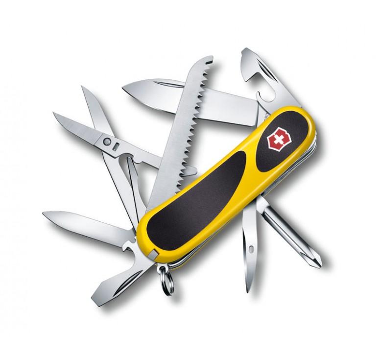 Нож перочинный VICTORINOX EvoGrip 18, 85 мм, 15 функций, жёлтый с чёрными вставками