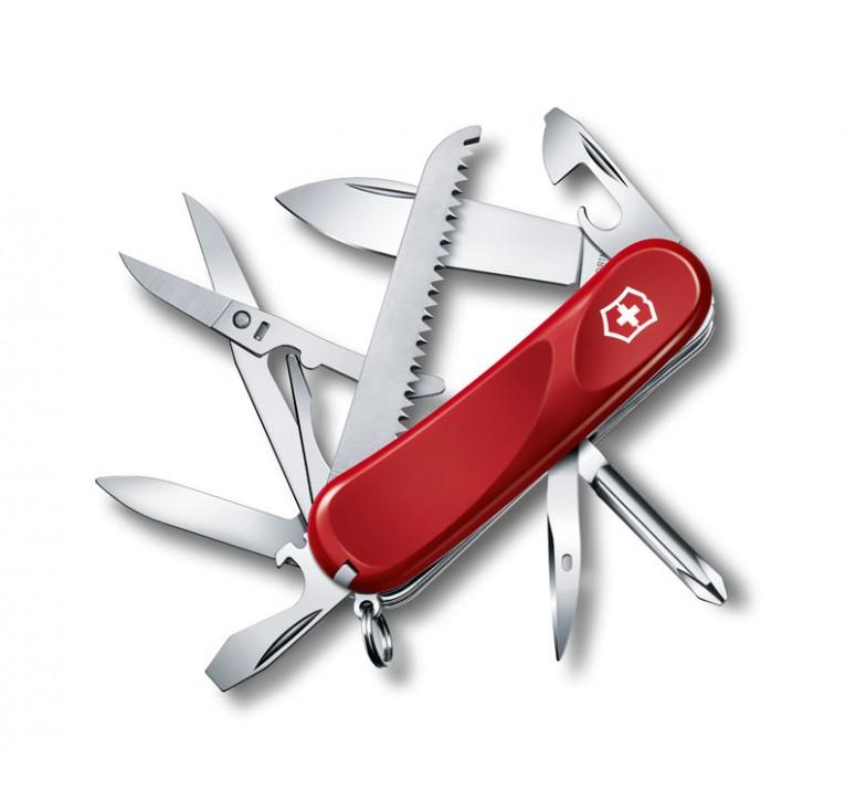 Нож перочинный VICTORINOX Evolution 18, 85 мм, 15 функций, красный