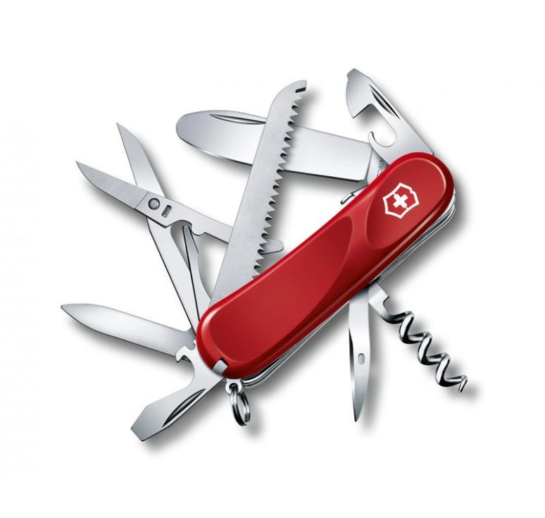 Нож перочинный VICTORINOX Junior 03, 85 мм, 15 функций, с фиксатором лезвия, красный