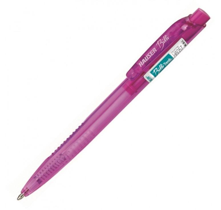Шариковая ручка Hauser Billi Trendz, пластик, цвет розовый