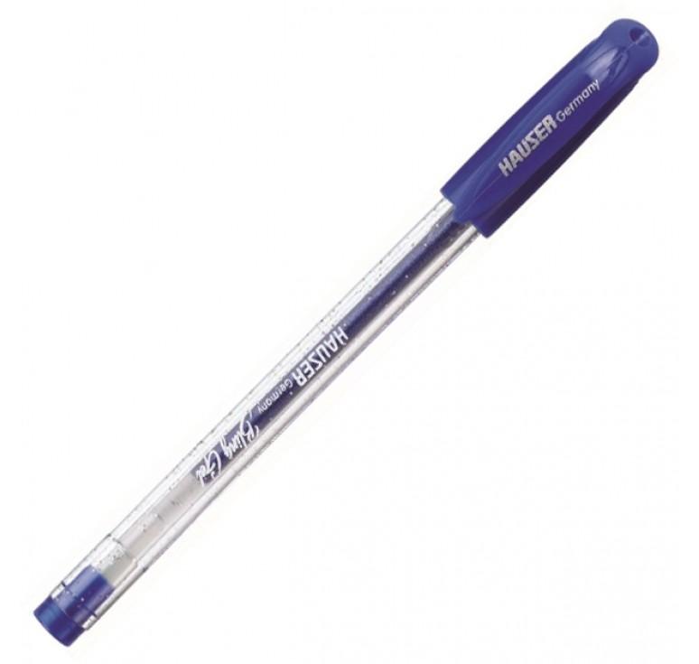 Гелевая ручка Hauser Bling, чернила с блёстками - синие, коробка