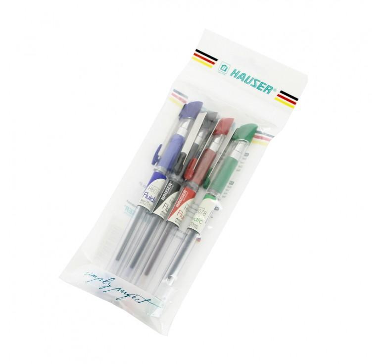 Набор: Шариковая ручка Hauser Fluidic - 4шт