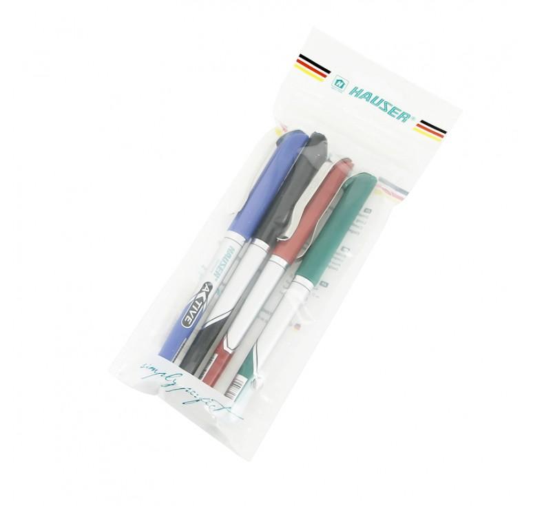 Набор: Шариковая ручка Hauser Active - 4шт