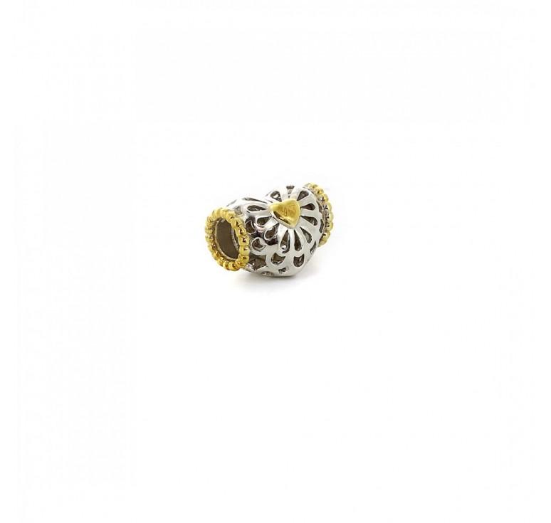 Подвеска-перлина «Золотое сердце»