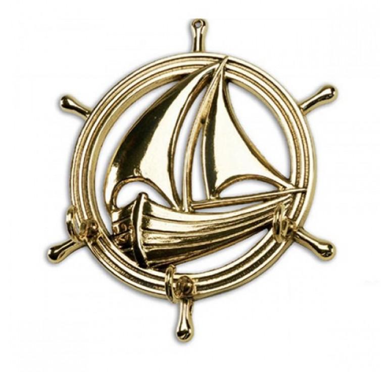 Настенная ключница Кораблик