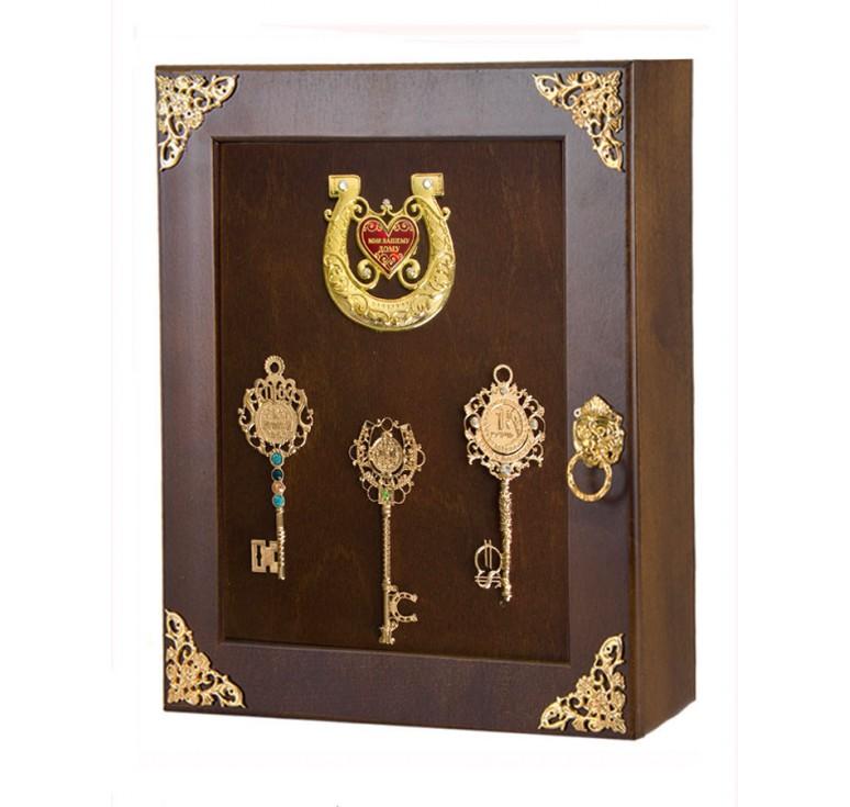 Ключница Ключи с подковой Мир Вашему дому