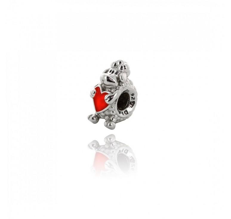Подвеска-перлина «Овечка с сердцем»