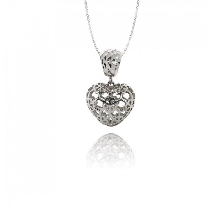 Подвеска-перлина «Ажурное сердце»