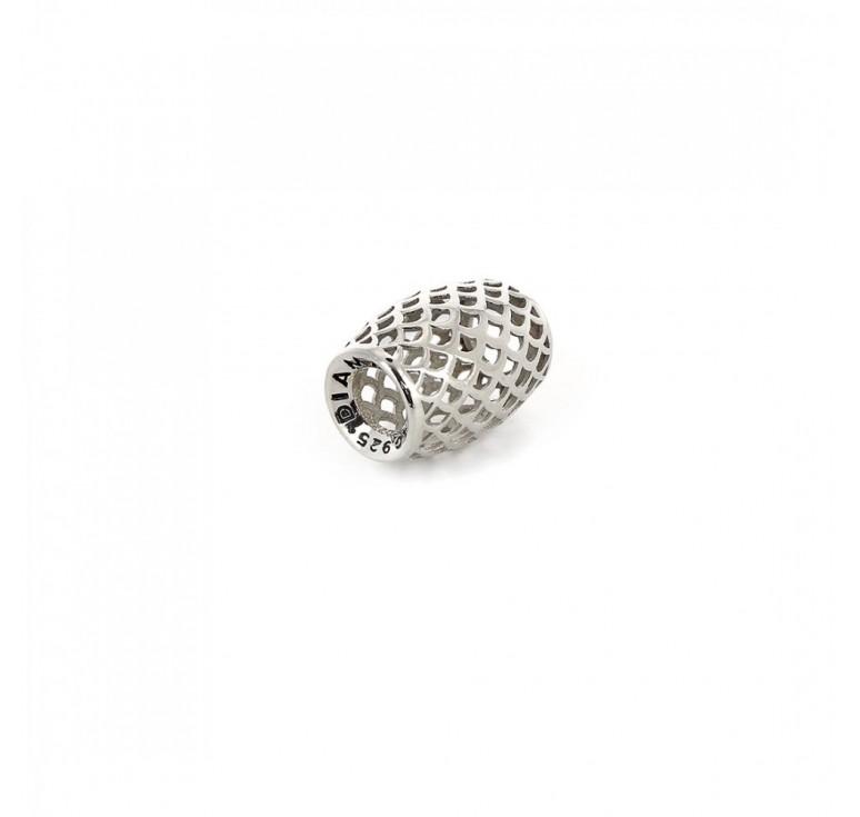 Подвеска-перлина «Серебряная чешуя»