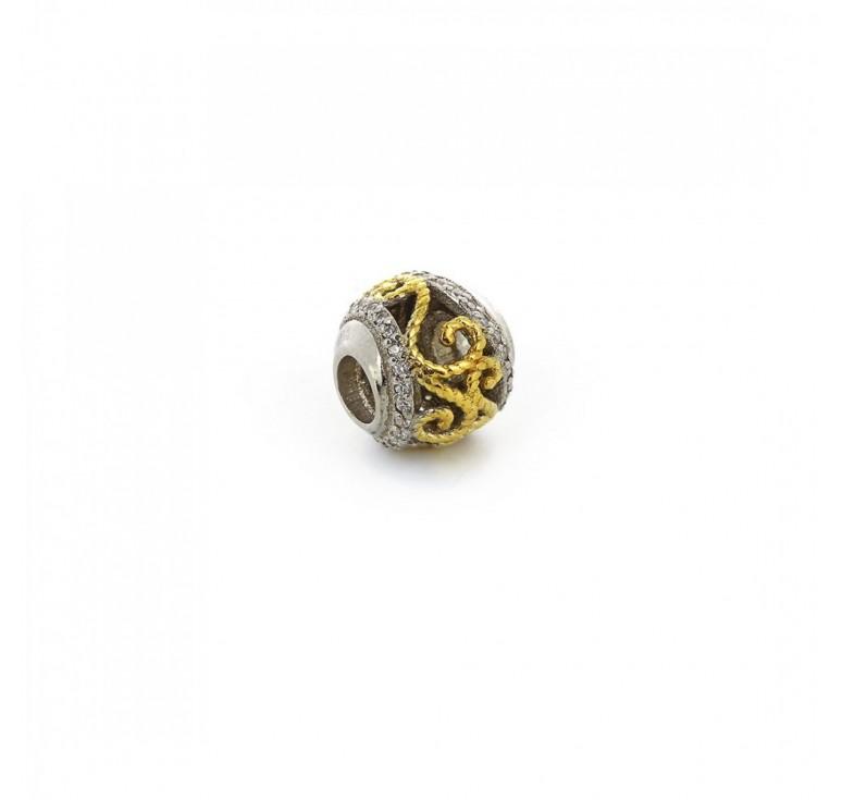 Подвеска-перлина «Золотые завитки»